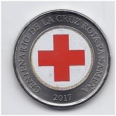 PANAMA 1 BALBOA 2017 KM # new UNC Raudonasis kryžius