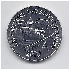 PANAMA 1 CENTESIMO 2000 KM # 132 UNC F.A.O.
