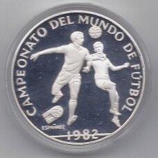 PANAMA 10 BALBOAS 1982 KM # 78 PROOF Futbolo čempionatas