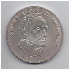 PANAMA 20 BALBOAS 1972 KM # 31 AU S. BOLIVARAS