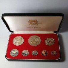 PAPUA NAUJOJI GVINĖJA 1975 m. 8 monetų proof rinkinys