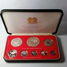PAPUA NAUJOJI GVINĖJA 1976 m. 8 monetų proof rinkinys