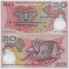 PAPUA NAUJOJI GVINĖJA 20 KINA 2002 P # 26 UNC