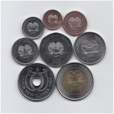 PAPUA NAUJOJI GVINĖJA 2004 - 2015 m. 8 monetų rinkinys 2
