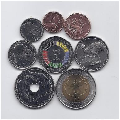 PAPUA NAUJOJI GVINĖJA 2004 - 2015 m. 8 monetų rinkinys