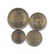 PERU 1984 m. 4 monetų komplektas