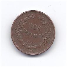 PERU 2 CENTAVOS 1936 KM # 212.1 VF