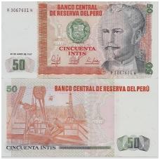 PERU 50 INTIS 1987 P # 131b UNC
