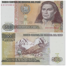 PERU 500 INTIS 1987 P # 134b UNC