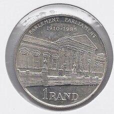 PIETŲ AFRIKA 1 RAND 1985 KM # 116 PROOF 75m. Parlamentui