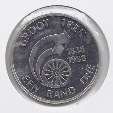 PIETŲ AFRIKA 1 RAND 1988 KM # 128 PROOF Great Trek
