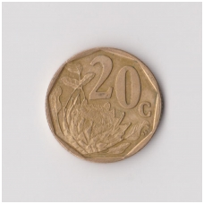 PIETŲ AFRIKA 20 CENTS 1997 KM # 162 VF