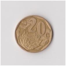 PIETŲ AFRIKA 20 CENTS 1999 KM # 162 VF