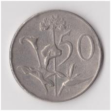 PIETŲ AFRIKA 50 CENTS 1966 KM # 70.2 VF