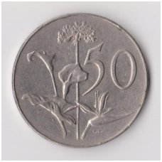 PIETŲ AFRIKA 50 CENTS 1968 KM # 79.2 VF