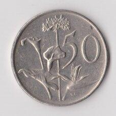 PIETŲ AFRIKA 50 CENTS 1982 KM # 114 VF