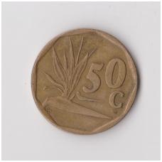 PIETŲ AFRIKA 50 CENTS 1991 KM # 137 VF