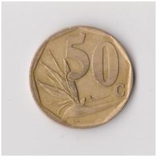 PIETŲ AFRIKA 50 CENTS 1996 KM # 163 VF