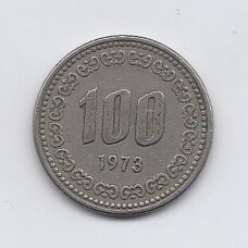 PIETŲ KORĖJA 100 WON 1973 KM # 9 VF