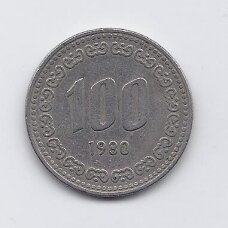 PIETŲ KORĖJA 100 WON 1980 KM # 9 VF