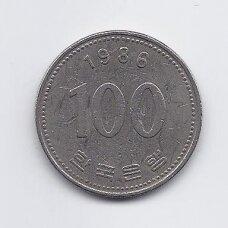 PIETŲ KORĖJA 100 WON 1986 KM # 35.2 F