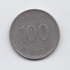 PIETŲ KORĖJA 100 WON 1987 KM # 35.2 VF