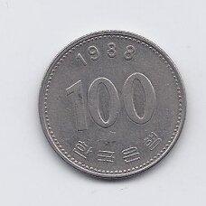 PIETŲ KORĖJA 100 WON 1988 KM # 35.2 VF