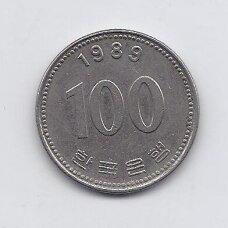 PIETŲ KORĖJA 100 WON 1989 KM # 35.2 VF