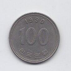 PIETŲ KORĖJA 100 WON 1990 KM # 35.2 VF