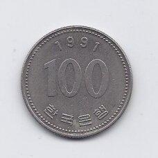 PIETŲ KORĖJA 100 WON 1991 KM # 35.2 VF