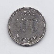 PIETŲ KORĖJA 100 WON 1992 KM # 35.2 VF