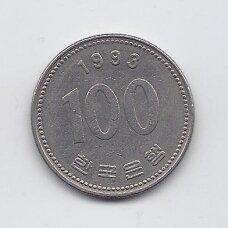 PIETŲ KORĖJA 100 WON 1993 KM # 35.2 VF