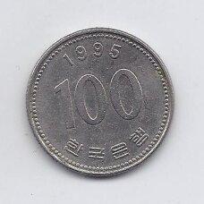 PIETŲ KORĖJA 100 WON 1995 KM # 35.2 VF
