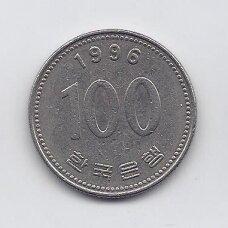 PIETŲ KORĖJA 100 WON 1996 KM # 35.2 VF