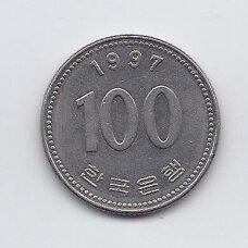 PIETŲ KORĖJA 100 WON 1997 KM # 35.2 VF
