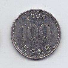 PIETŲ KORĖJA 100 WON 2000 KM # 35.2 XF