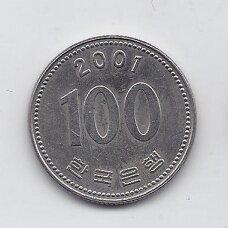 PIETŲ KORĖJA 100 WON 2001 KM # 35.2 XF
