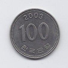 PIETŲ KORĖJA 100 WON 2003 KM # 35.2 XF
