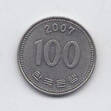 PIETŲ KORĖJA 100 WON 2007 KM # 35.2 XF