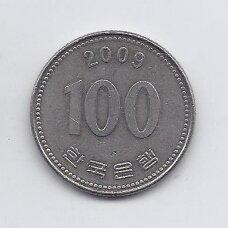 PIETŲ KORĖJA 100 WON 2009 KM # 35.2 VF