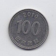 PIETŲ KORĖJA 100 WON 2010 KM # 35.2 XF