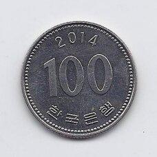 PIETŲ KORĖJA 100 WON 2014 KM # 35.2 XF