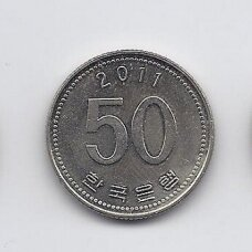 PIETŲ KORĖJA 50 WON 2011 KM # 34 AU