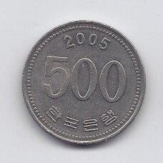 PIETŲ KORĖJA 500 WON 2005 KM # 27 VF