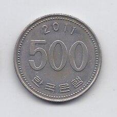 PIETŲ KORĖJA 500 WON 2011 KM # 27 VF