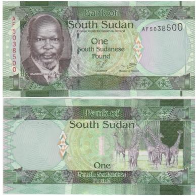 PIETŲ SUDANAS 1 POUND 2011 P # 5 UNC