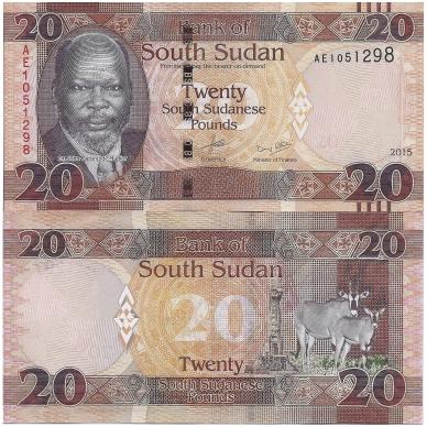 PIETŲ SUDANAS 20 POUNDS 2015 P # NEW AU