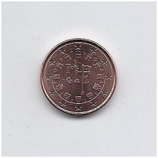 PORTUGALIJA 1 EUROCENT 2002 KM # 740 AU