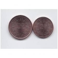 PORTUGALIJA 1 IR 2 EURO CENTS 2017