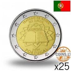 PORTUGALIJA 2 EURAI 2007 50M. ROMOS SUTARČIAI MAIŠELIS (25 vnt.)